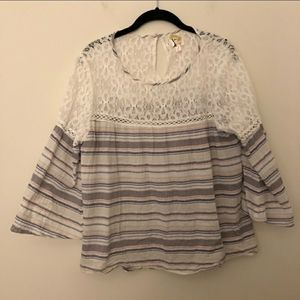 Anthropologie | Fig & Flower | Striped blouse | XL